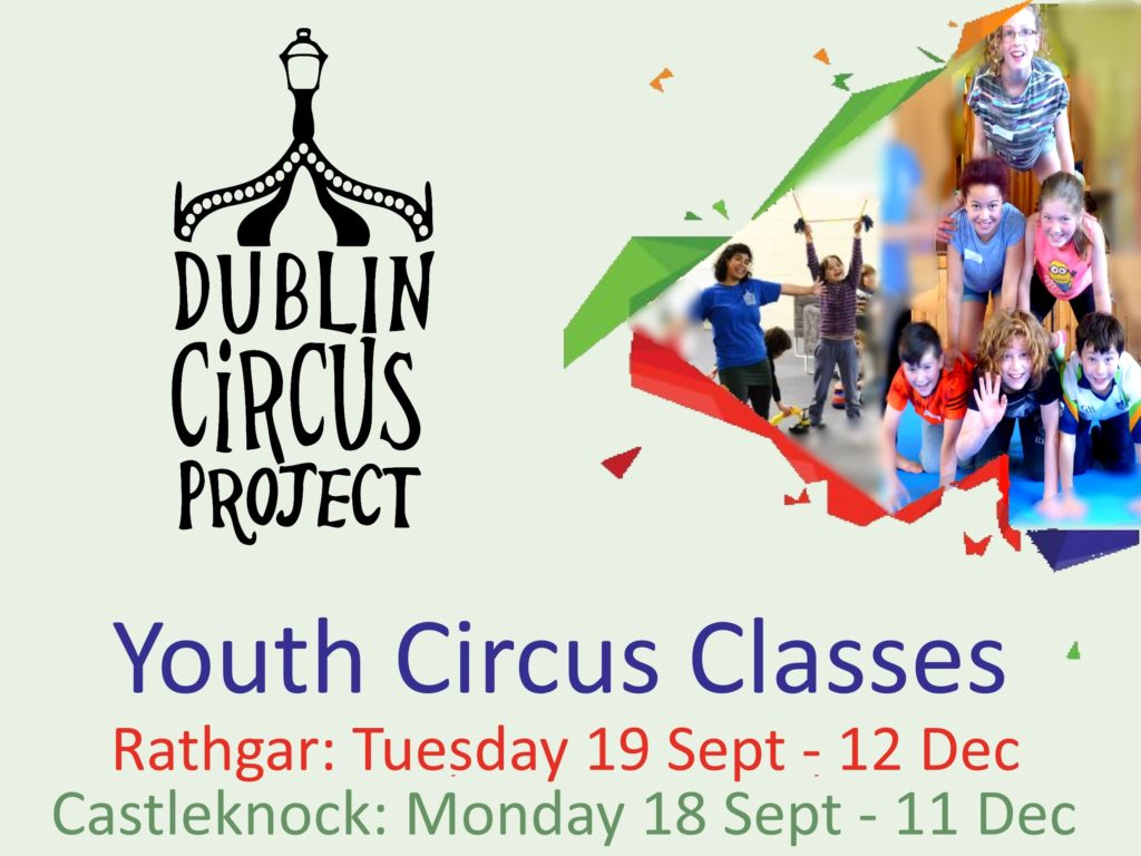 youth circus class poster